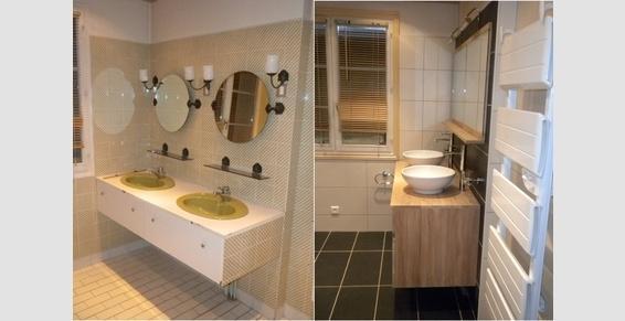 Modernisation d'un espace meubles de salle de bains