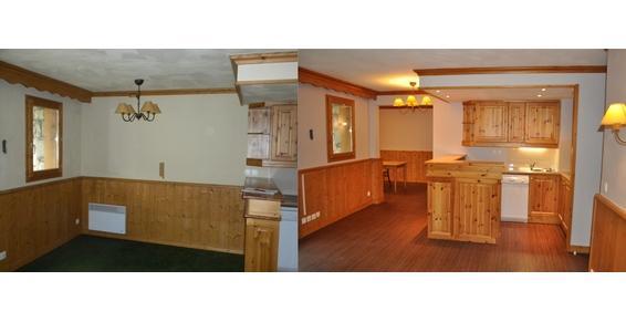 Réunion de 2 appartements, modification des cloisons, peinture, sols